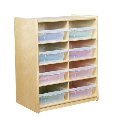 Wood Designs 8 Compartment Cubby WD1824 Bin Color: Clear