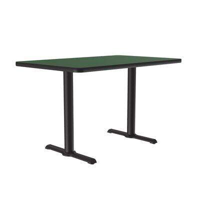 Correll Rectangular Bar and Café Table with T-Bases and C...