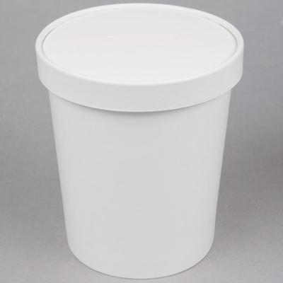 Choice 32 oz. Double Poly-Coated White Paper Soup / Hot F...