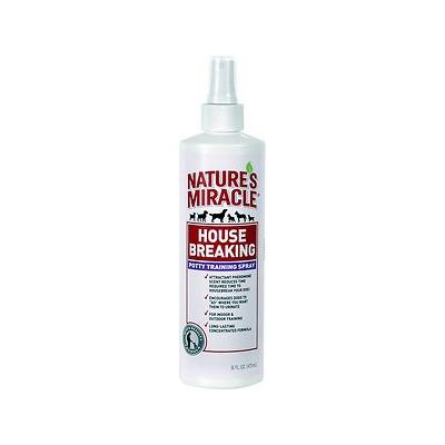 Nature\'s Miracle House-Breaking Potty Training Spray, 16-oz bottle; Letting Lucy know where it\'s okay to go is the best way to cut down on housetraining time - and the best way to eliminate messy clean-ups. A quick squirt of Nature\'s Miracle...
