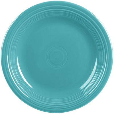 "Homer Laughlin 466107 Fiesta Turquoise 10 1/2"" Plate - 12..."