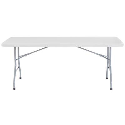 "National Public Seating NPS Folding Table, 30"" x 72"" Plas..."