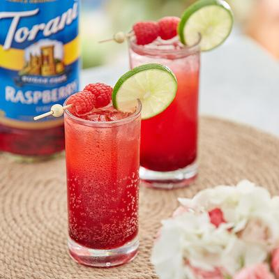 Torani 750 mL Sugar Free Raspberry Flavoring / Fruit Syrup
