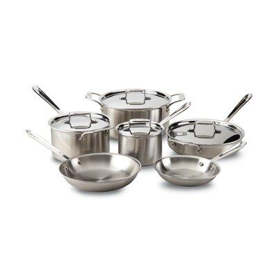 All-Clad d5 Brushed Stainless Steel 10 Piece Cookware Set...