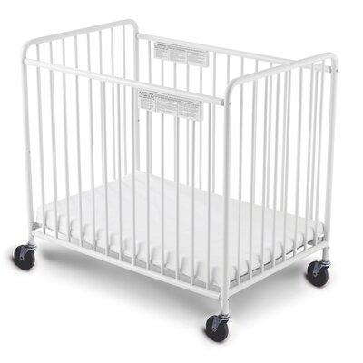 Foundations Chelsea Slatted Non-Folding Compact Crib with...