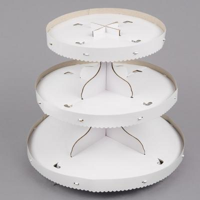 Wilton 1512-127 3-Tier White Disposable Cupcake Stand