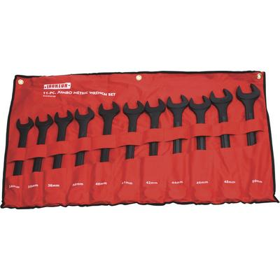 Ironton Jumbo Wrench Set - 11-Piece, Metric, Black