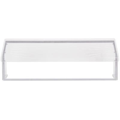 "Carlisle CFS917207 73-1/4"" Standard Single-Sided Buffet Sneeze Guard, For Five Star Buffet Bars, 73-2/5"" Exterior Length, 71-2/5"" Interior Length, 26-1/2"" Counter to Back Height, 13-1/4"" Counter To Front Height, 12-2/5"" Depth, Clear Acrylic"
