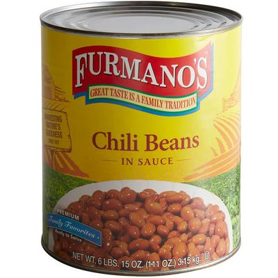 Furmano¿s 10 Can Spiced Chili Beans - 6/Case