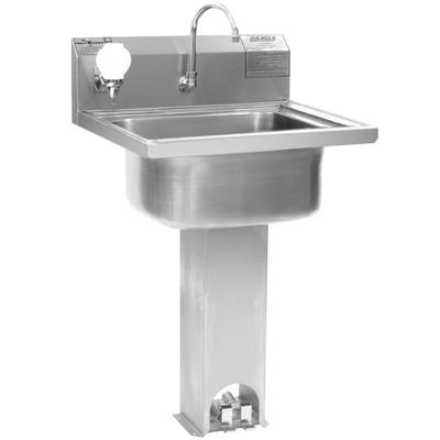 Eagle Group P1916 Stainless Steel Pedestal Hand Sink with...