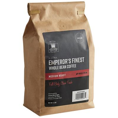 Crown Beverages Emperor's Finest Whole Bean Decaf Coffee ...