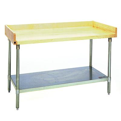 Eagle Group MT3072S-BS Wood Top Work Table with Stainless...