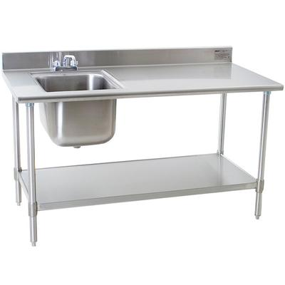 Sink On Left Eagle Group TSEBBSE X Stainless Steel - 30 x 60 stainless steel work table