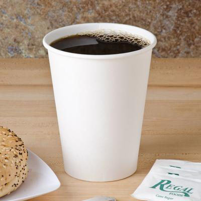 Dart Solo 412WN-2050 12 oz. White Poly Paper Hot Cup - 10...
