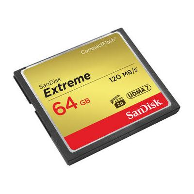 Sandisk 64 GB Extreme CompactFlash Memory Card SDCFXS-064...