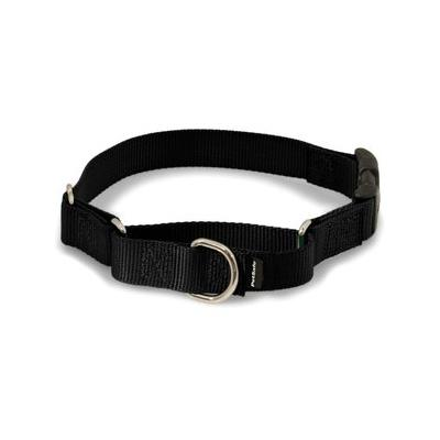 PetSafe Premier Quick Snap Martingale Dog Collar, Black, Petite, 3/8-in; This martingale-style dog collar has an added quick-release snap buckle for easier on and off. Martingale collars are safer than choke chains or prong collars. Used with a leash...