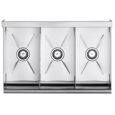 "Regency 36"" 16-Gauge Stainless Steel Three Compartment Co..."
