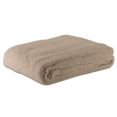 Case of 12 100% Cotton Hotel Blanket - Thermal Herringbon...