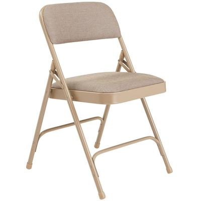 National Public Seating 2201 Beige Metal Folding Chair wi...