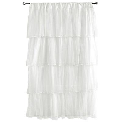 Tadpoles Tulle 63 Window Curtain - White, Multicolor