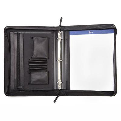Royce Leather Deluxe Convertible Binder Padfolio, Black