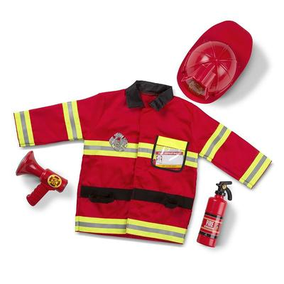 Melissa and Doug Fire Chief Costume - Kids, Kids Unisex, Multicolor