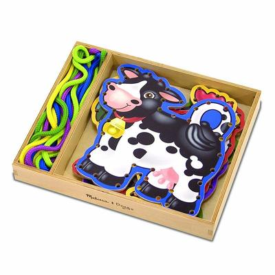 Melissa and Doug Farm Animals Lace and Trace Panels, Multicolor