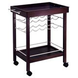 Winsome Bar Cart Wine Rack, Brown | White Wine Red