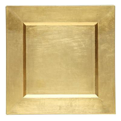 "The Jay Companies 13"" x 13"" Square Gold Polypropylene Cha..."