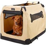 Firstrax Petnation Port-A-Crate E Series Indoor  Outdoor Pet Home, 36-in | White Wine Red