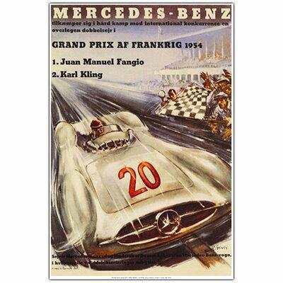 "Trademark Art ""Mercedes Benz Grand Pris"" Framed Vintage A..."