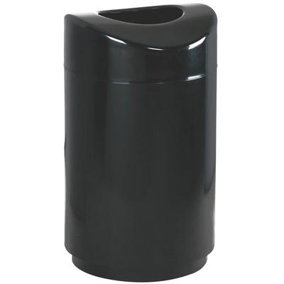 Rubbermaid FGR2030EPLBK Eclipse Black Round Open Top Stee...