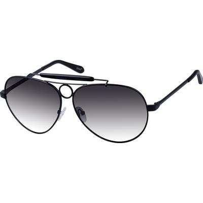 Zenni Mens Sunglasses Black Frame Other Metal A10102621