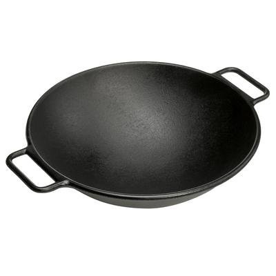 "Lodge Pro-Logic P14W3 14"" Pre-Seasoned Cast Iron Wok"