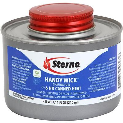 Sterno Products 10110 6 Hour Handy Wick Chafing Fuel with...