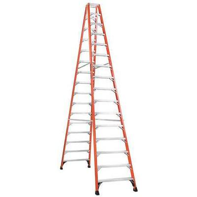 Louisville 16' Fiberglass 375 lb. Twin Stepladder, Type I...