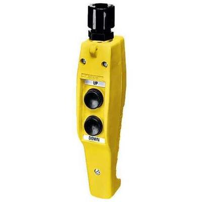 Pendant Push Button Station,NO/NC,Yellow HUBBELL WIRING D...