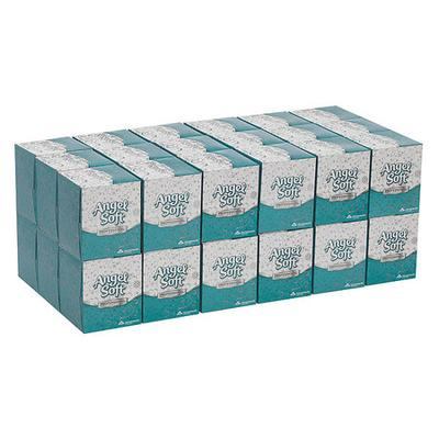 Georgia Pacific Angel Soft ps(R) Premium Facial Tissues, 96 Sheets Per Box, Case Of 36 Boxes