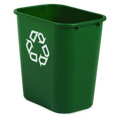 Rubbermaid FG295606GRN Recycling Container, 7 gal, Green