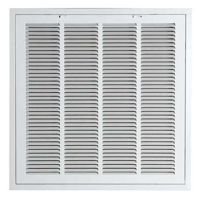 VALUE BRAND 4MJT8 Return Air Filter Grille, 24x24 In, White