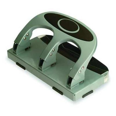 Officemate 90100 Heavy Duty Paper Punch, Three Hole, Silver