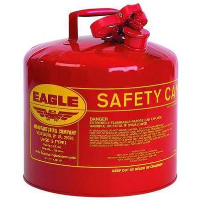 Eagle UI-50S Type I Safety Can, 5 gal., Red, 13-1/2In H