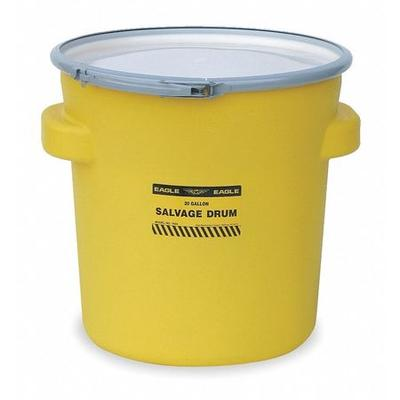 Salvage Drum,Open Head,20 gal.,Yellow EAGLE 1654