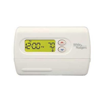 Emerson Thermostat, 5-1-1 Day Programmable, Stages 2 Heat...