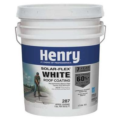 HENRY HE287GR018 Protective Roof Coating, 4.75 gal.,White
