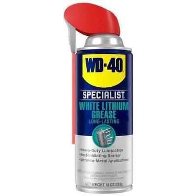 Multipurpose Grease, NLGI Grade 2, Base Oil Mineral, Container Size 10 oz., Lubricant NSF Rating H2 Food Grade, Grease Thickener Lithium, Grease Color White, Grease Container Aerosol Can, Min. Operating Temp. 0 Degrees F, Max. Operating Temp. 300...