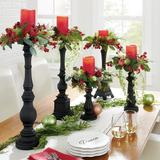 Christmas Set Of Five Winter Berry Candle Rings - Grandin Road