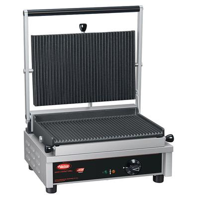Hatco MCG14G Commercial Panini Press w/ Cast Iron Grooved Plates, 120v