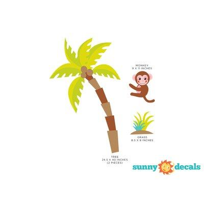 Sunny Decals Palm Tree Fabric Wall Decal 48-J8WH-X2DZ