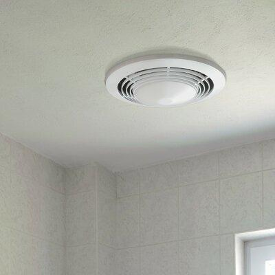 Broan 70 CFM Bathroom Fan with Heater and Light 9093WH